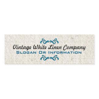 Decorative Vintage White Linen Business Cards