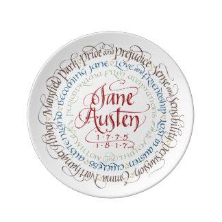 Decorative Wall Plate - Jane Austen Period Dramas Porcelain Plate