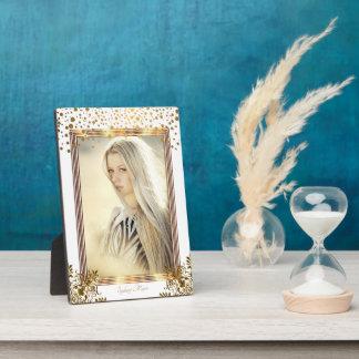 Decorative White & Gold Confetti - DIY Photo Plaque