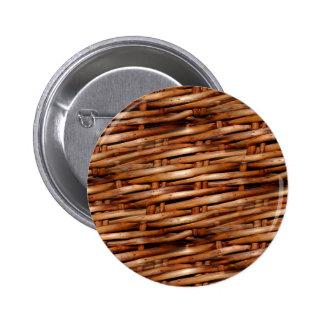 Decorative Wicker Basket Look Buttons