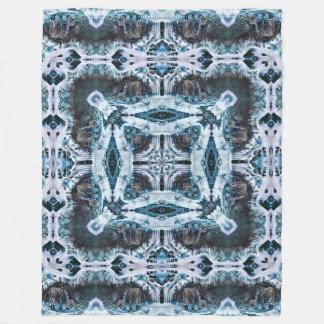 Decorative Winter Wolf Spirit Shaman Wheel Fleece Blanket