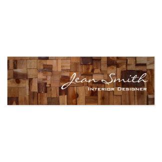 Decorative Wood Interior Design Mini Business Card