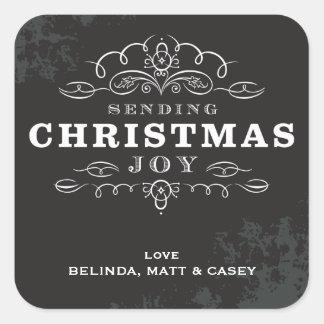 DECORATIVE WRAP LABEL :: sending christmas joy 2