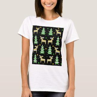 Decorative Xmas reindeer pattern T-Shirt