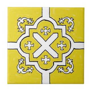 Decorative Yellow Spanish Style tile