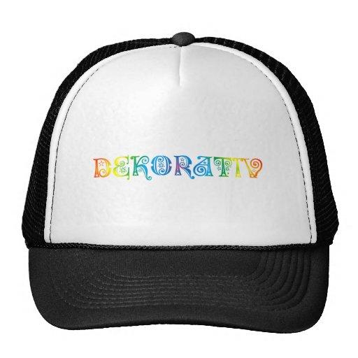 decoratively mesh hats