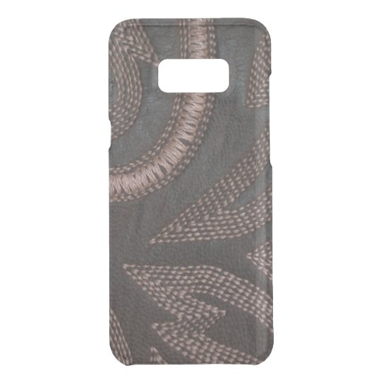Decoratively Sewn Brown Vintage Leather Pattern Uncommon Samsung Galaxy S8 Plus Case