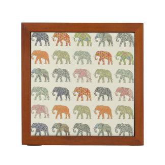 Decorator Elephant Trendy Pattern Desk Organiser