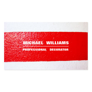 DECORATOR MINIMALIST ELEGANT PROFESSIONAL PAINTER BUSINESS CARD
