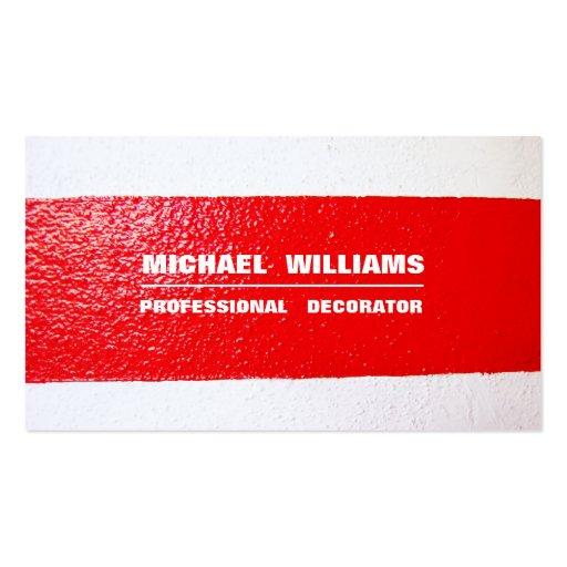 DECORATOR MINIMALIST ELEGANT PROFESSIONAL PAINTER BUSINESS CARD