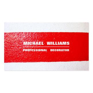DECORATOR MINIMALIST ELEGANT PROFESSIONAL PAINTER PACK OF STANDARD BUSINESS CARDS