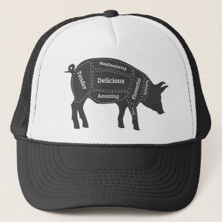 Decriptive Pig Primal Map Trucker Hat