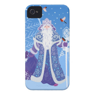 Ded Moros and birds in winter forest russian style iPhone 4 Cover