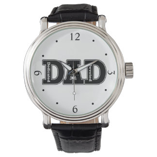 Dedicated and Devoted Dad Typographic Wristwatch