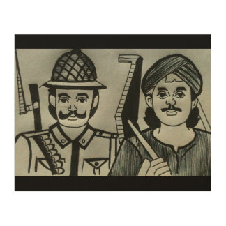 Dedicated to soldiers and farmers wood wall decor