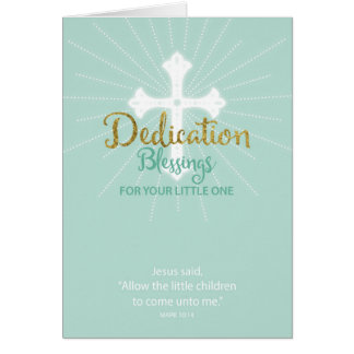 Dedication Blessings for Little One, Neutral Green Greeting Card