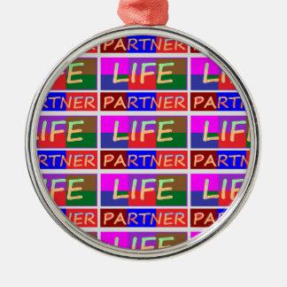 Dedication : Happy Life Partner Christmas Ornament