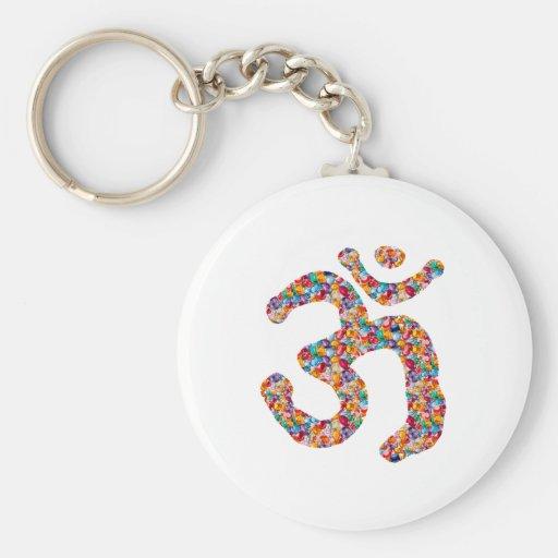 Dedication to OM MANTRA : DISPLAY gems,pearls om Key Chain