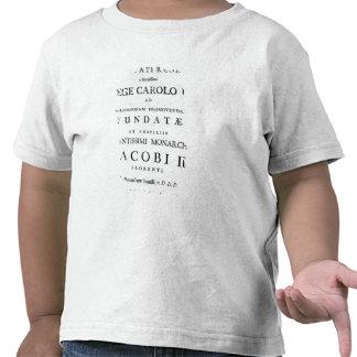 Dedication to the Royal Society Tshirts