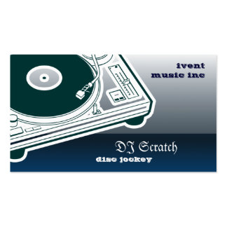 Dee Jay Button Style Turntable Pack Of Standard Business Cards