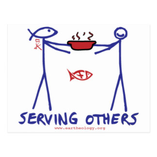 Deed Doer & Anita Deed Serving Others Postcard