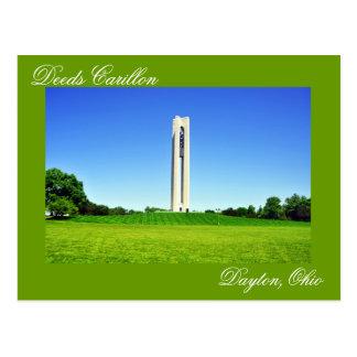 Deeds Carillon, Dayton, Ohio, U.S.A. Postcard