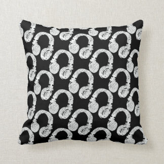 deejay headphone pattern cushion