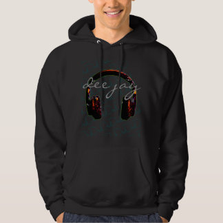 deejay headphone stylish music hoodie