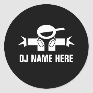 Deejay name stickers for music DJ Disk Jockey