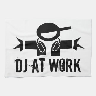 Deejay towel | DJ gear with custom slogan