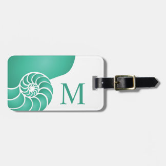 Deep Aqua Nautilus Custom Nautical Luggage Tag