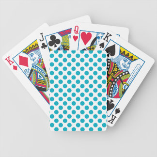 Deep Aqua Polka Dots Bicycle Playing Cards