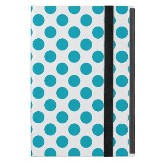 Deep Aqua Polka Dots Case For iPad Mini