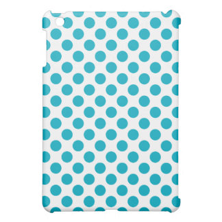 Deep Aqua Polka Dots iPad Mini Case