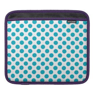 Deep Aqua Polka Dots iPad Sleeve