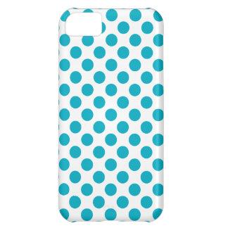 Deep Aqua Polka Dots iPhone 5C Case