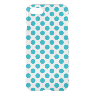 Deep Aqua Polka Dots iPhone 8/7 Case