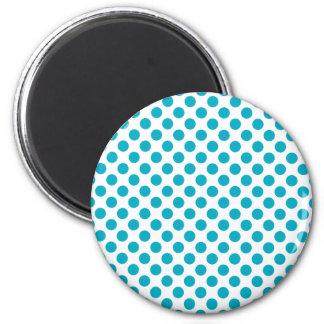 Deep Aqua Polka Dots Magnet