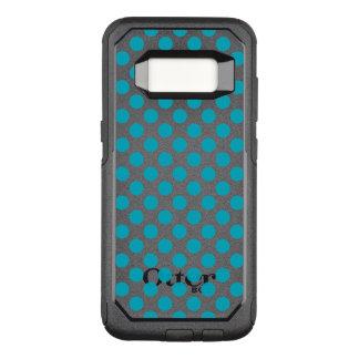 Deep Aqua Polka Dots OtterBox Commuter Samsung Galaxy S8 Case