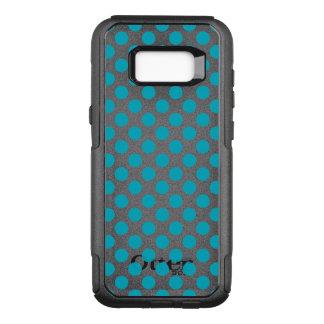Deep Aqua Polka Dots OtterBox Commuter Samsung Galaxy S8+ Case