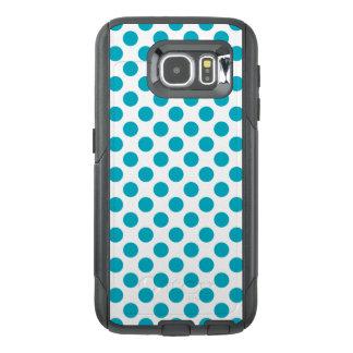 Deep Aqua Polka Dots OtterBox Samsung Galaxy S6 Case