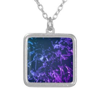 Deep Aquatic Alien Silver Plated Necklace