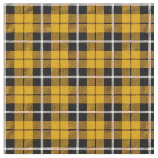 Deep Autumn Gold yellow white/black stripe Fabric