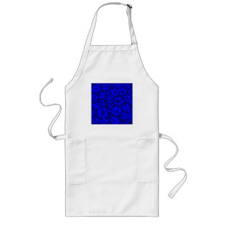 Deep blue abstract floral pattern. aprons
