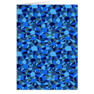 DEEP BLUE ABSTRACT SEA SHELLS PATTERN CARD