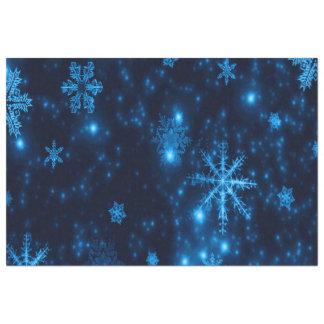 Deep Blue & Bright Snowflakes Tissue Paper
