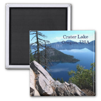 Deep Blue Crater Lake Oregon USA Travel Magnet
