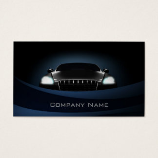 Deep Blue Curves Car Front Business Card