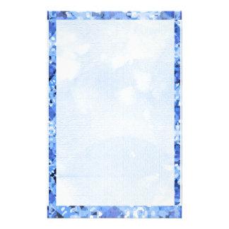 Deep Blue Diamond Border 2 Customized Stationery
