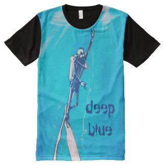deep blue diver illustration All-Over print T-Shirt
